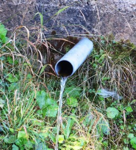 Pipe with drinking water